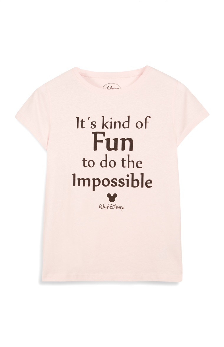 Pink Disney Quote T-Shirt